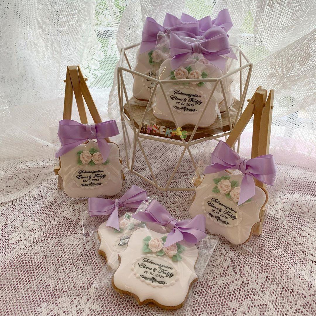 Wedding cookies; . . . .