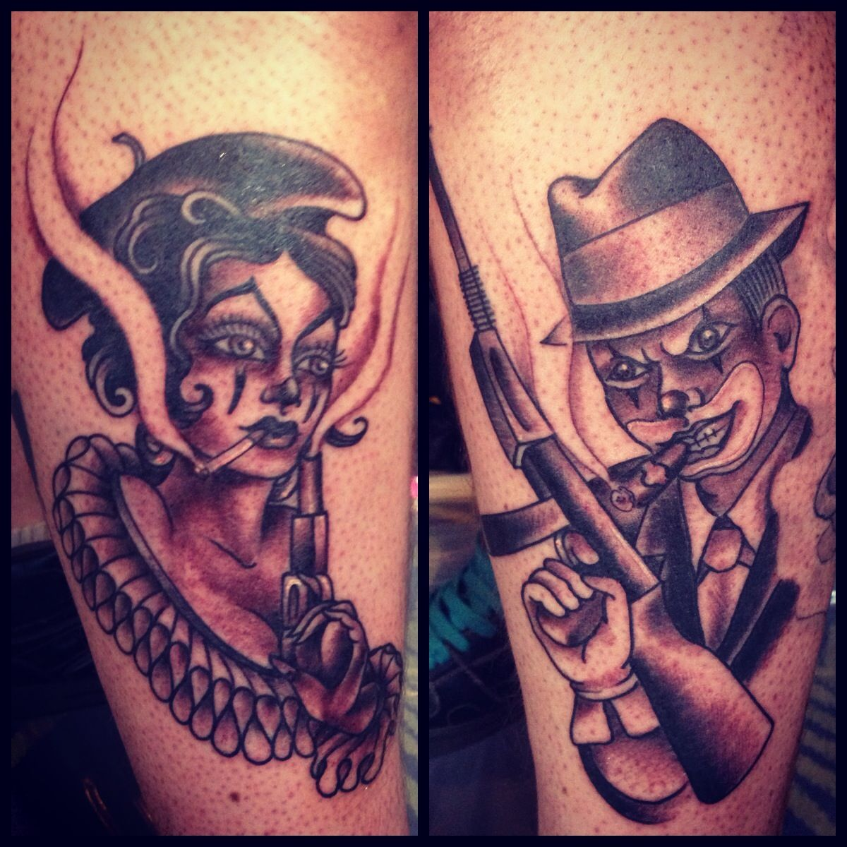 Bonnie And Clyde Tattoos By Dawn Cooke Tattoos By Our Artists