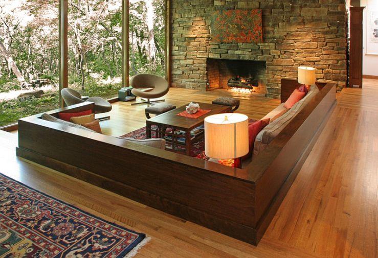 Hoe Fijn Is Dit Chillen In Een 'zitkuil'  Retro Decorating Interesting Living Room Candidate Inspiration Design
