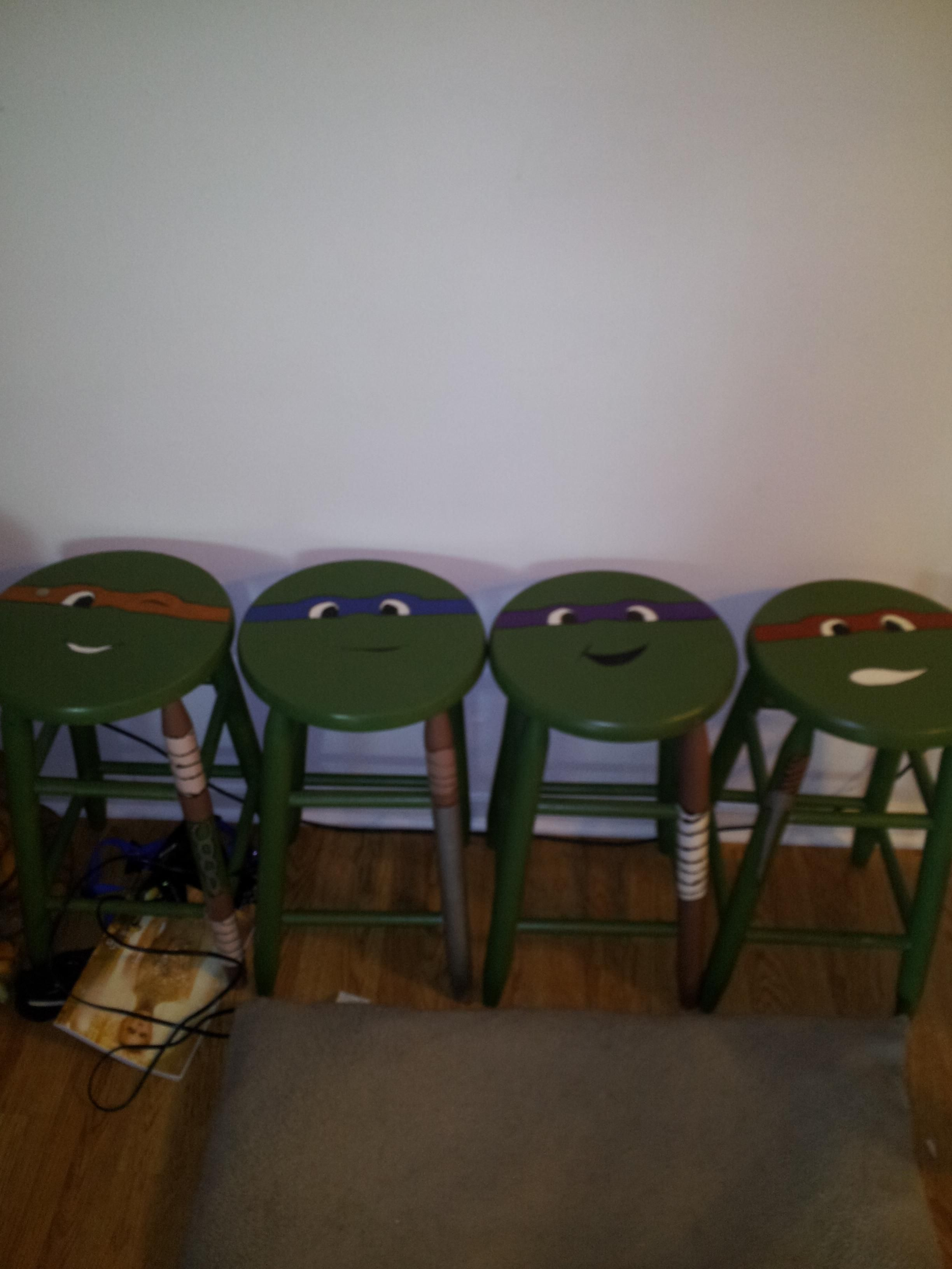 Saw these ninja turtle stools at a new friendus houses their