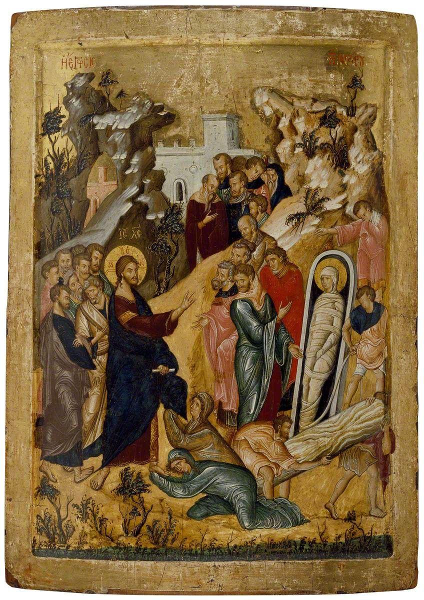 Icon of The Raising of Lazarus Raising of lazarus, Art
