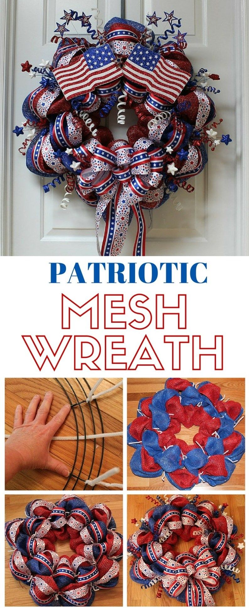Photo of 40+ Patriotic DIY Dollar Store 4th Of July Wreaths – This Tiny Blue House