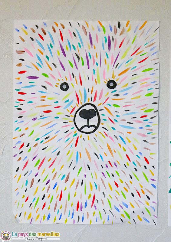 Ours coloré (art visuel et graphisme)