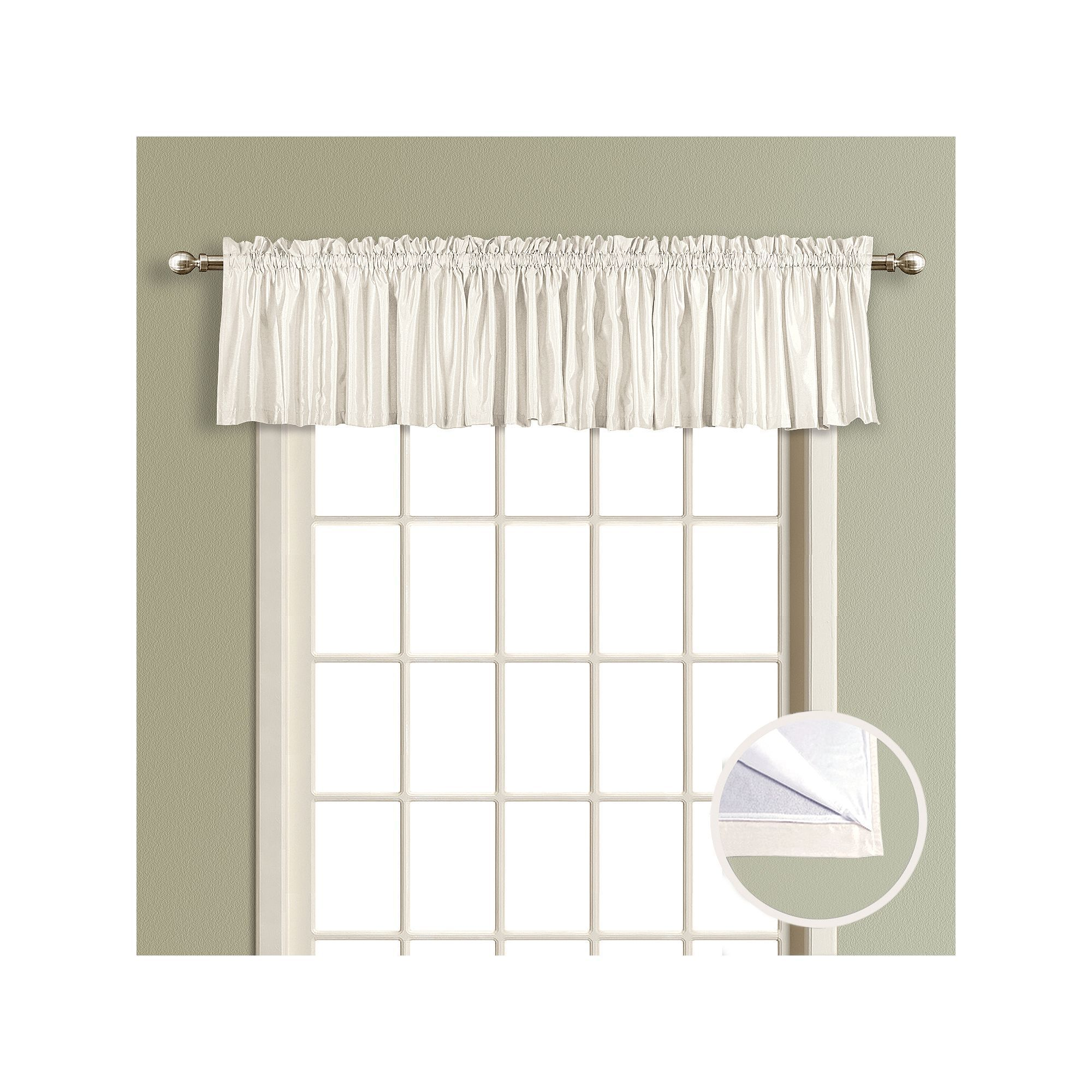 United Curtain Co Lincoln Lined Window Valance 54 X 16