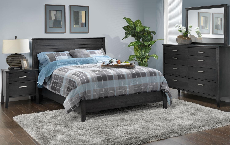 Yorkville Bedroom 5 Pc Queen Bedroom Set Leon S Grey Bedroom Furniture Bedroom Sets Queen Charcoal Bedroom Furniture