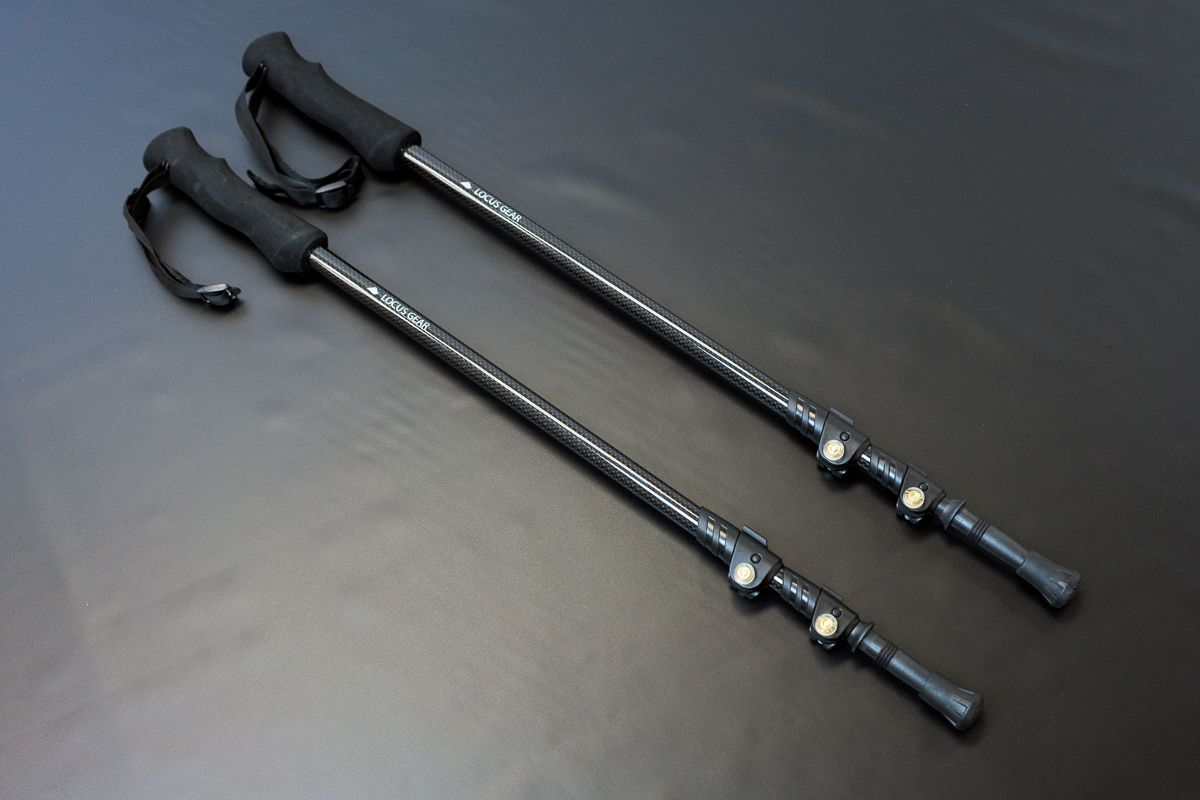 """CP3   Carbon Fiber Trekking Pole """"CP3″  Lock System : Flip-lock Length:65cm〜135cm Weight:150g/pc(excl. Cap and Basket)  Shaft:100% Carbon fiber  Dia. of the shaft: 16mm-14mm-12mm Grip:EVA Strap:Adjustable strap made of polypropylene.  3D Basket and Rubber Cap attached  ¥6,900./pc  *Please note that the pole is sold by the piece. So please buy 2 for a pair.   The use of 100%"""
