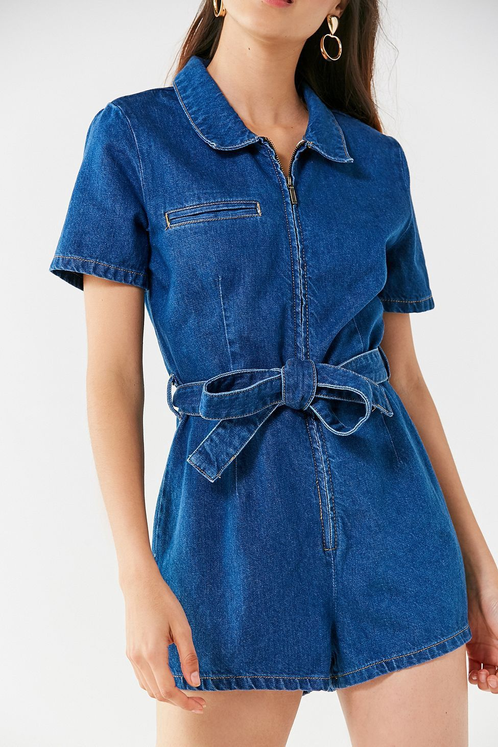 d46bc8dcf2c UO Hello Sunshine Denim Romper by Urban Outfitters in 2019 ...