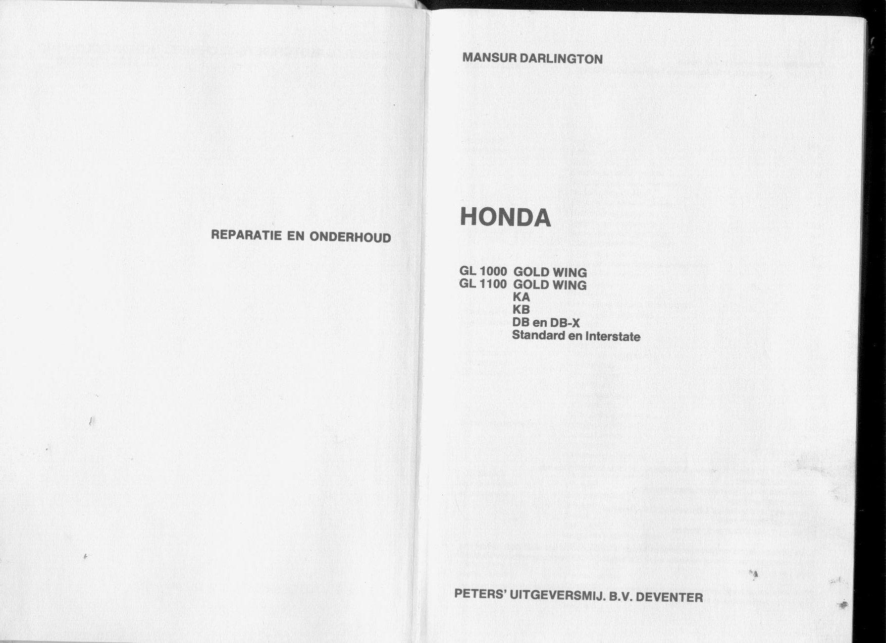Honda GL 1000 1100 GoldWing 1976 1984 Repair Manual PDF
