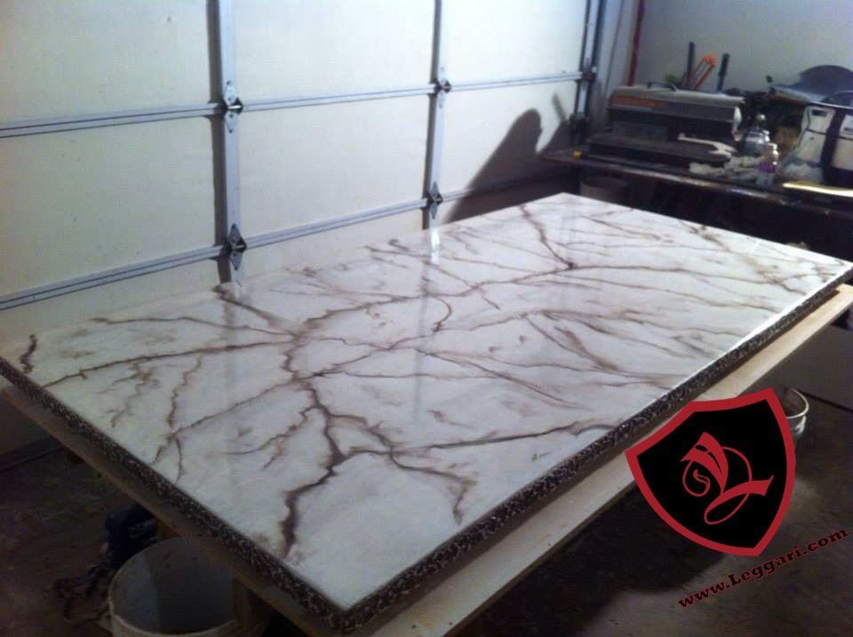 This Tabletop Was Coated With A Leggari Products Diy