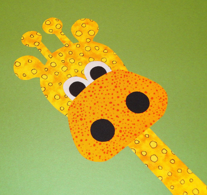 giraffe quilt pattern | Applique TEMPLATE Pattern Only GIANT