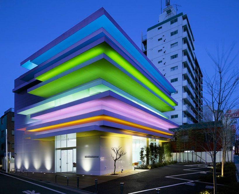 emmanuelle moureaux architecture + design: sugamo shinkin bank shimura branch - beautiful colors