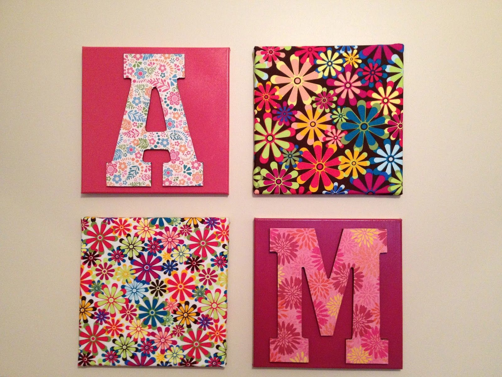 Wall hanging ideas with living unbound diy easy wall hanging ideas using canvas fabric and - Teenage wall art ideas ...