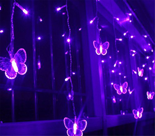 Purple Rope Lights Delectable Ramonala 3Mx06M Led String Lights Butterfly Led Licht Curtain Licht Design Decoration