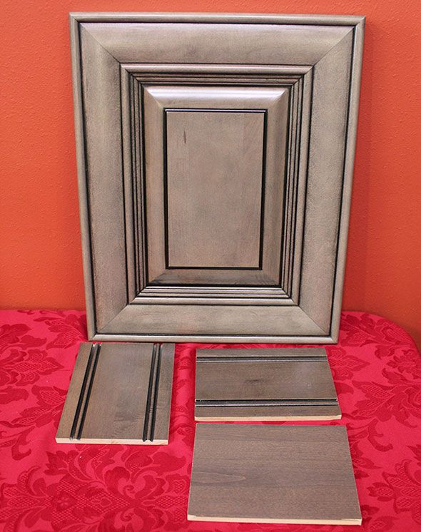light gray kitchen cabinets with chocolate glaze | ... cabinet ...