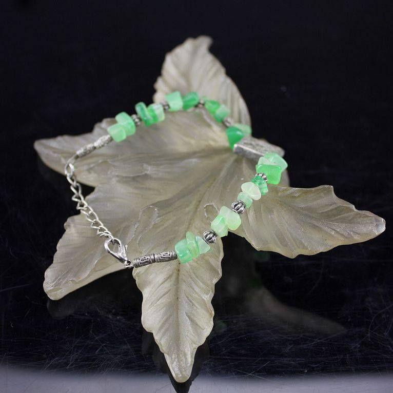I'm selling Oriental Vintage Handwork Silver Jade Beads Bracelet - $79.95 #onselz