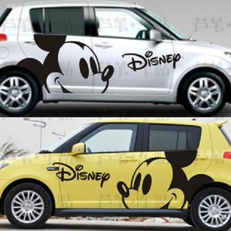 not Disney-car Vinyl sticker-mickey hand-mouse-sticker-vinyl