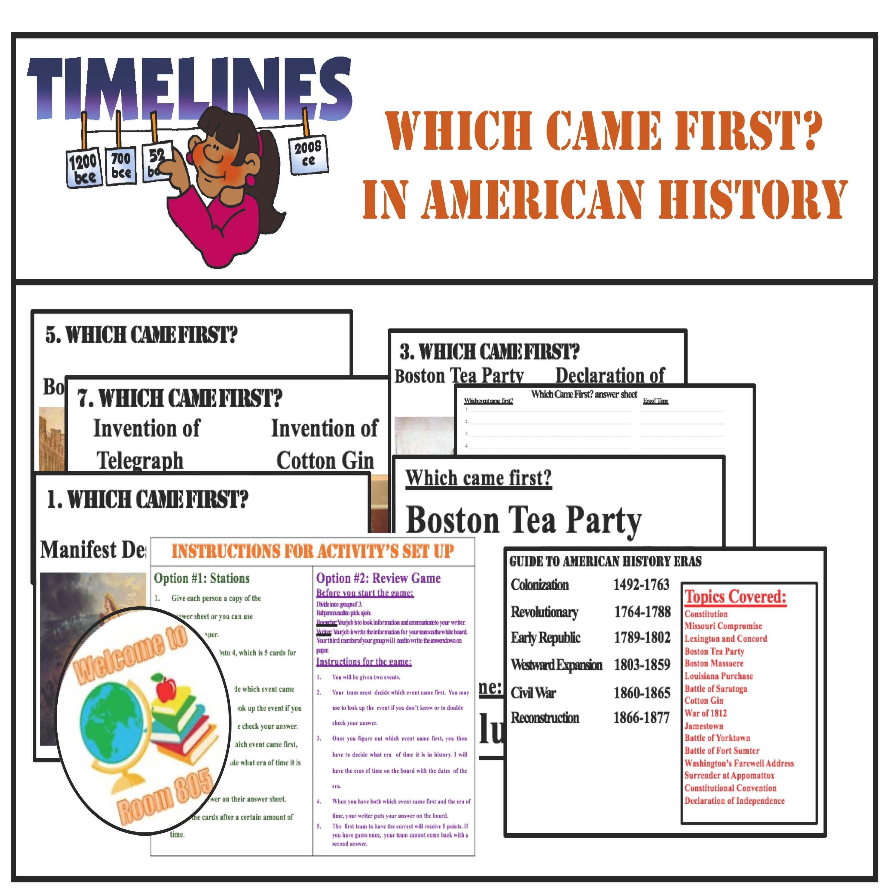 American History Timeline Review With Images