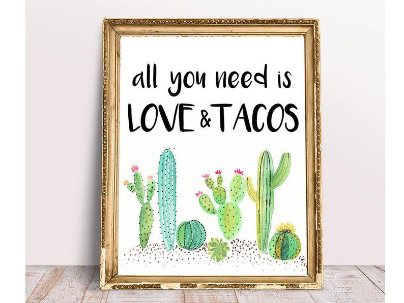 Taco Bar All You Need Is Love And Tacos Taco Bar Sign Fiesta Bridal Shower Fiesta Baby Shower Cactus Taco Bar Succulent Taco Bar File In 2020 Mexican Bridal Showers Fiesta