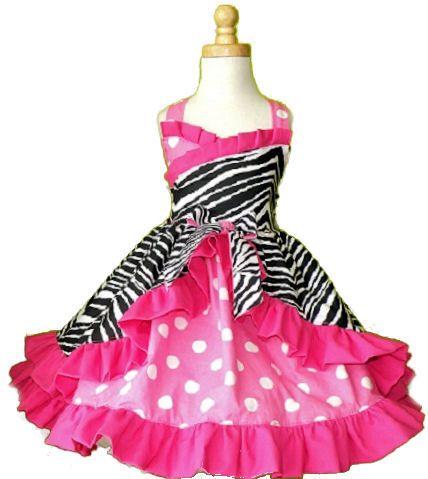 Zebra Pink Polka Dot Birthday Party Dress-zebra pink polka dot ...