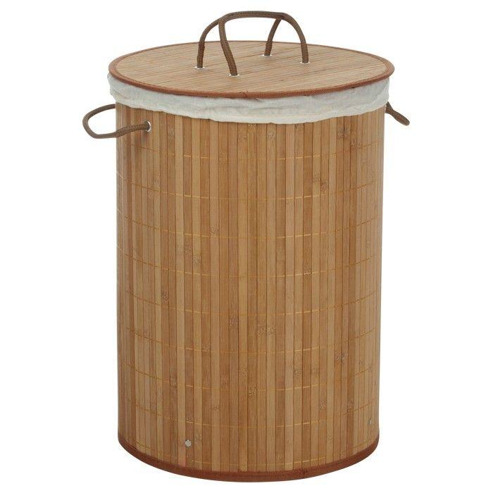 Wäschekorb, braun, H:50cm, D: 35cm    Jede Menge Platz bietet dieser Wäschekorb. Neben seinen praktischen Vorzügen, fällt besonders sein modernes Design ins Auge, das jedem Badezimmer frischen Wind einzuhauchen vermag. Der Wäschekorb ist in den Farben Braun, Schwarz und Dunkelbraun erhältlich.    42.95 CHF