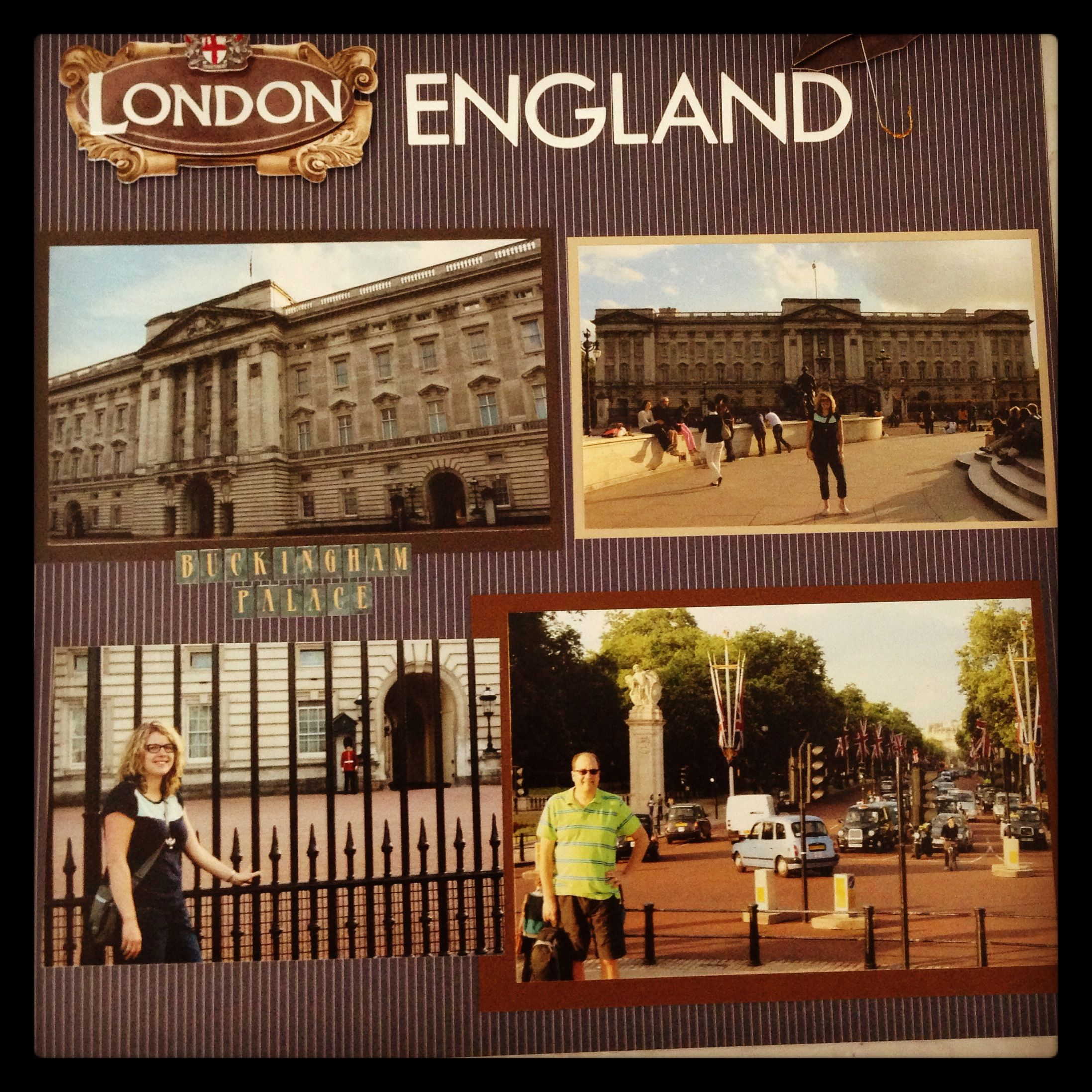 Scrapbook ideas england - England Scrapbook Page