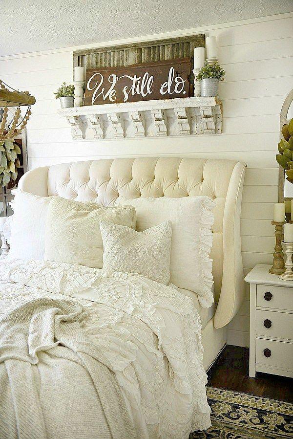 Farmhouse Bedroom Makeover Home Ideas Pinterest Bedroom