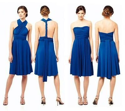 Twist wrap bridesmaid dress cheap