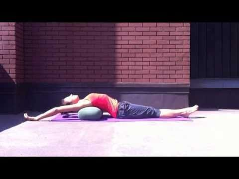 â ¶ 5 yoga poses using a bolster w/ rebecca pacheco