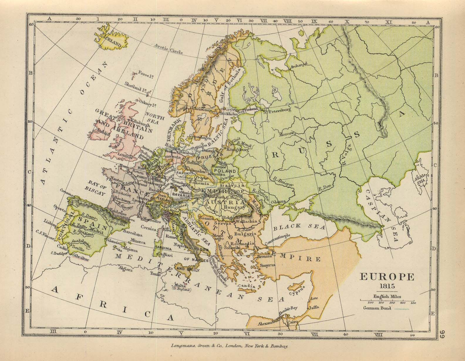 Map Of Europe Russia Middle East%0A Europe  by Charles Colbeck from The Public Schools Historical Atlas