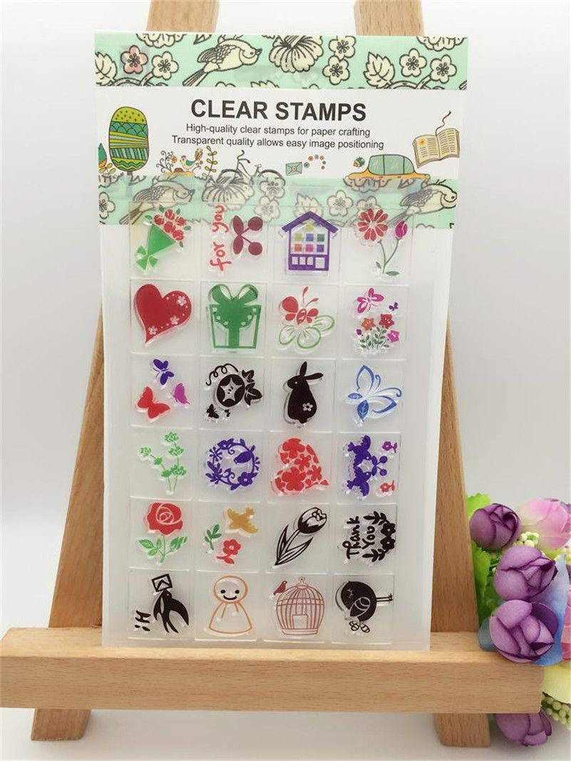 Ocean Fish Flowers Boy Design Silicon Stamps Scrapbooking Stamp For