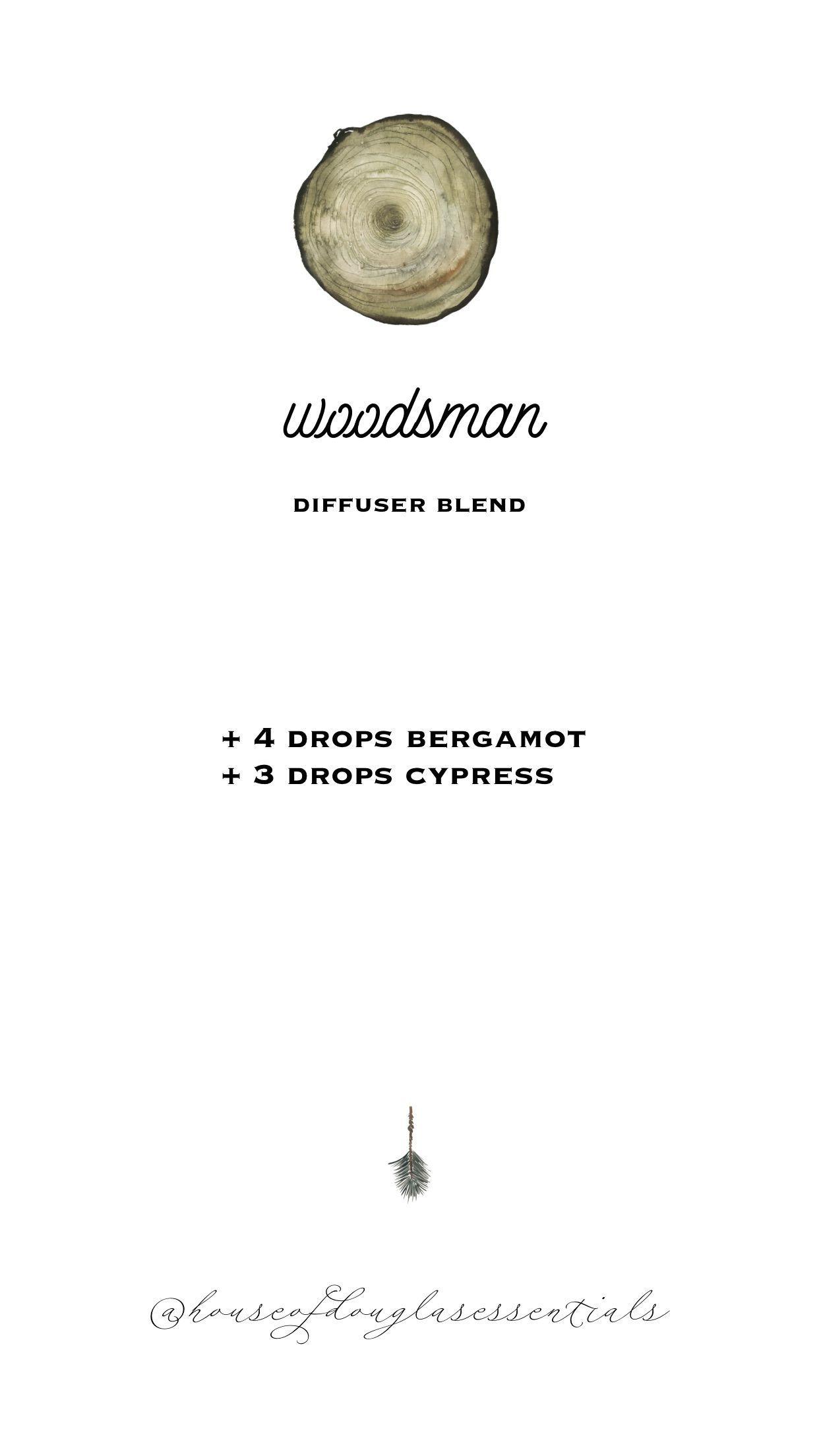 woodsman diffuser blend | fall diffuser blends | young living essential oils | diffuser blends | diffuser recipes | wellness | eo | bergamot |  cypress | autumn #oils #essentialoil #diffuser #diffuserblend #youngliving #diffuserrecipe #fall #winterdiffuserblends