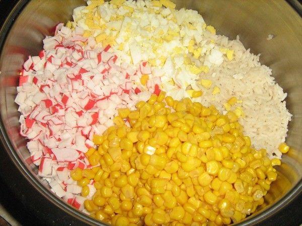 крабовый салат с рисом рецепт