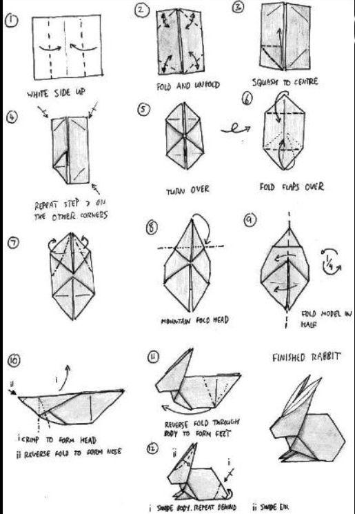 Origami Rabbit Origami Pinterest Origami Rabbit And Origami