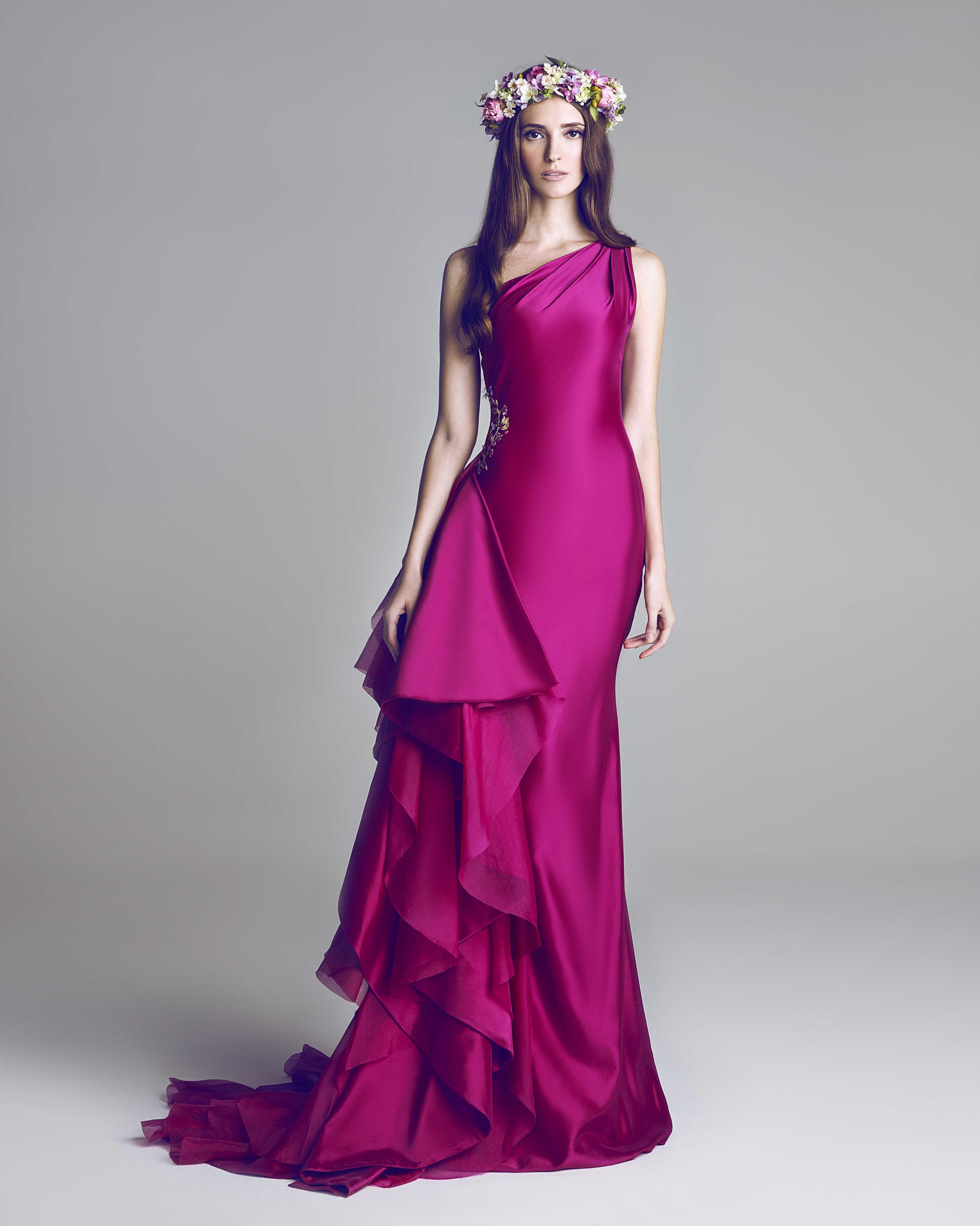 Fuchsia taffeta dress | Spring Summer 2013 | Pinterest