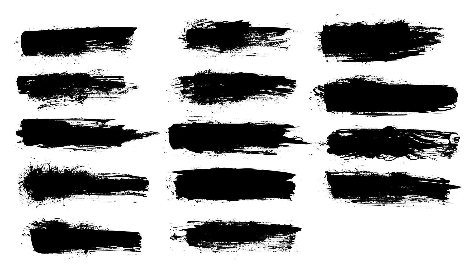 14 Grunge Brush Stroke Banner Png Transparent Vol 4 Onlygfx Com Brush Strokes Brush Png