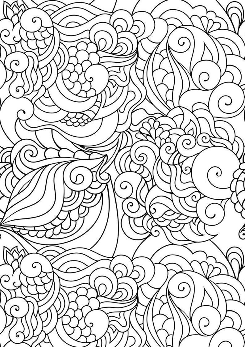 Doodle Art Coloring Zen Coloring Page Zen Doodle Coloring Etsy Pattern Coloring Pages Coloring Pages Doodle Coloring