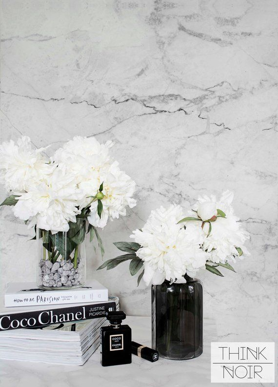 Marble Pattern Removable Wallpaper Self Adhesive Regular