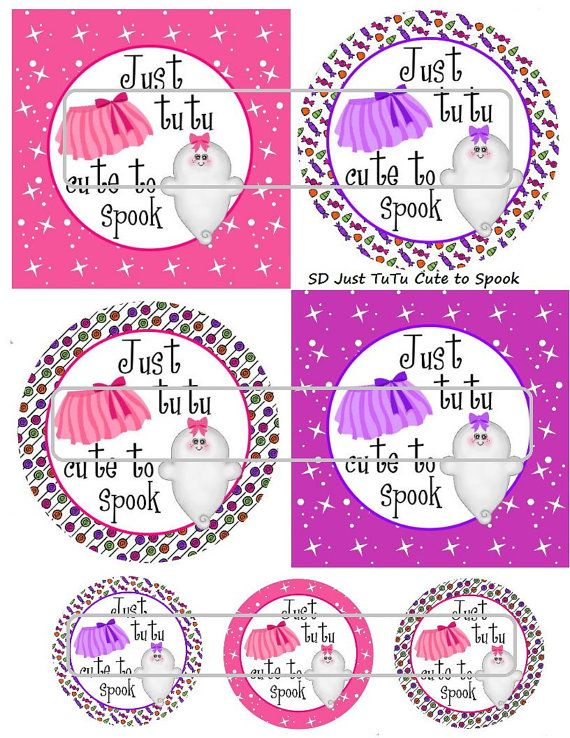 DIY Printable Just TuTu Cute to Spook Shrinky Dinks by MaddieZee, $1.25