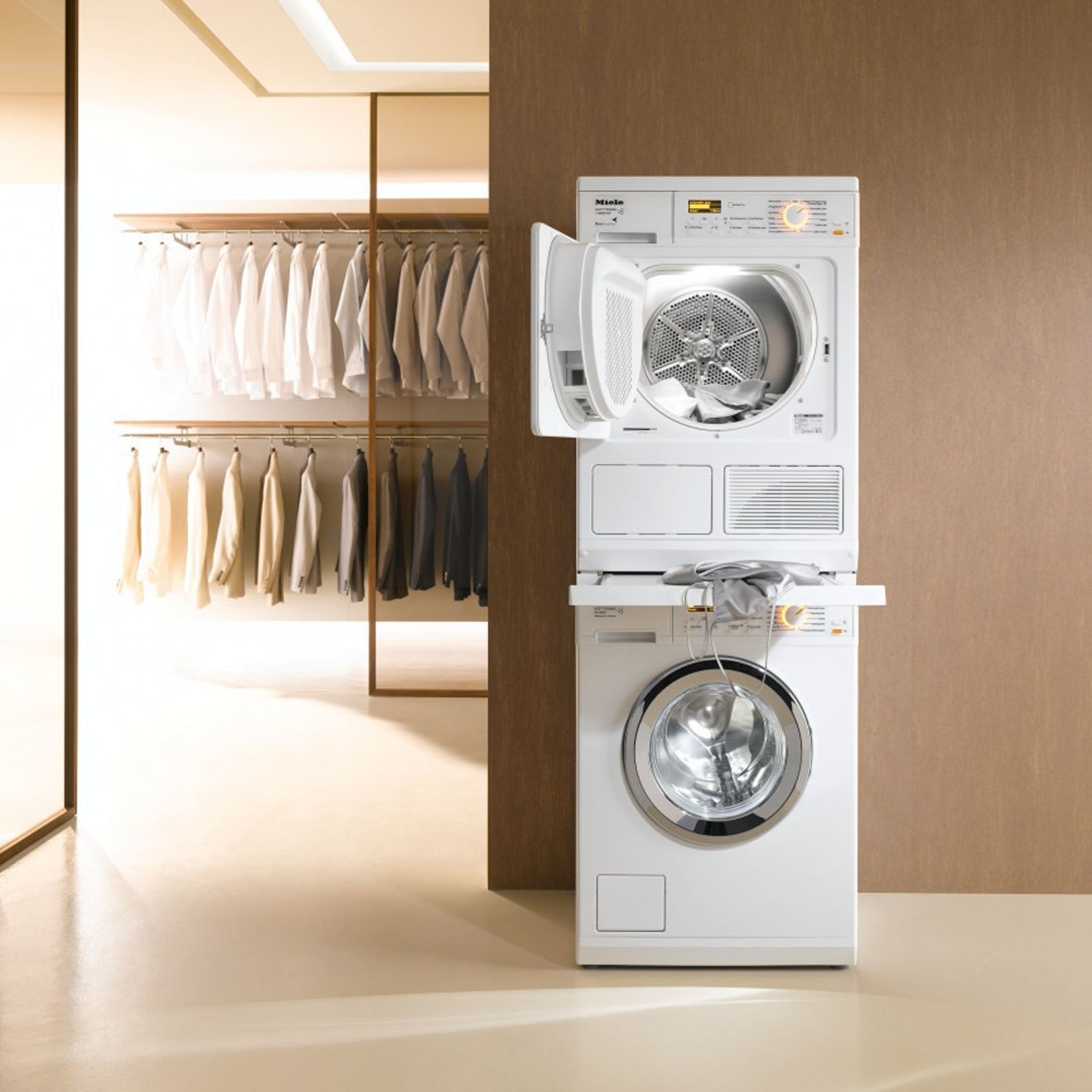 Miele Wtv406 Stacking Kit Lotus White In 2020 Small Laundry