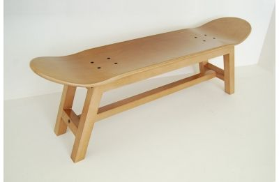 Nollie Heelflip stool, Honey color - Skate-Home | Skateboard Furniture & Design