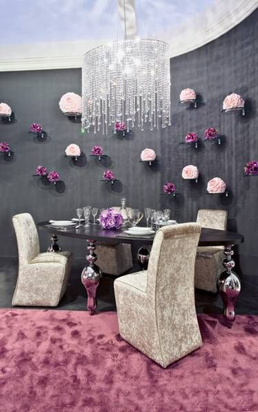 glamourous room decor glamorous dining room decorating ideas velvet silver and crystals