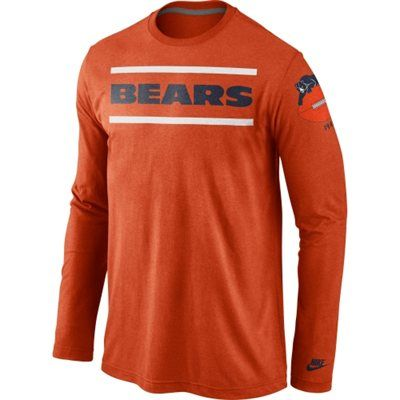 new arrival 642f6 dcf86 Mens Chicago Bears Nike Orange Rewind Stripes Long Sleeve T ...