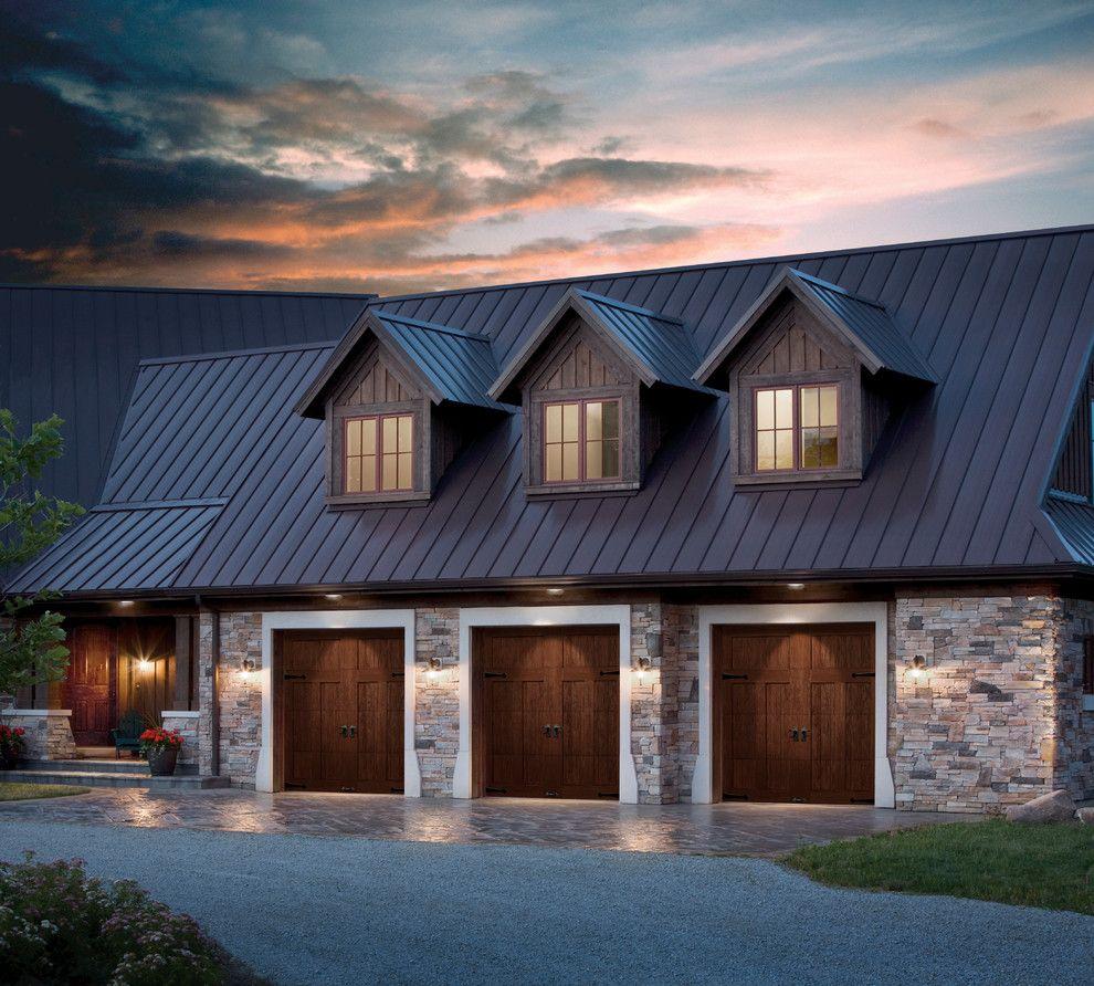 Garage Under House Designs Garage Traditional With Garage Door