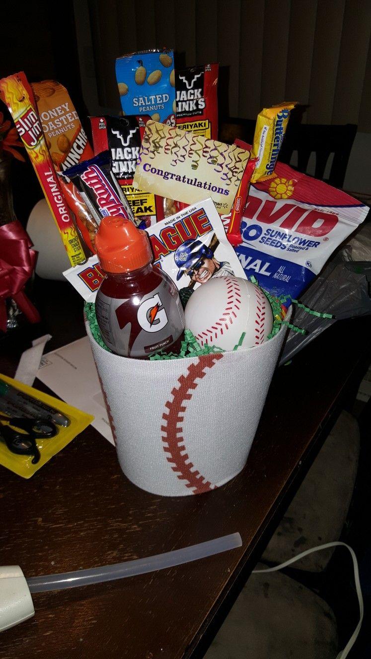 Soccer Mom-ish - Baseball gift basket | Baseball gift ...  |Baseball Sympathy Gifts