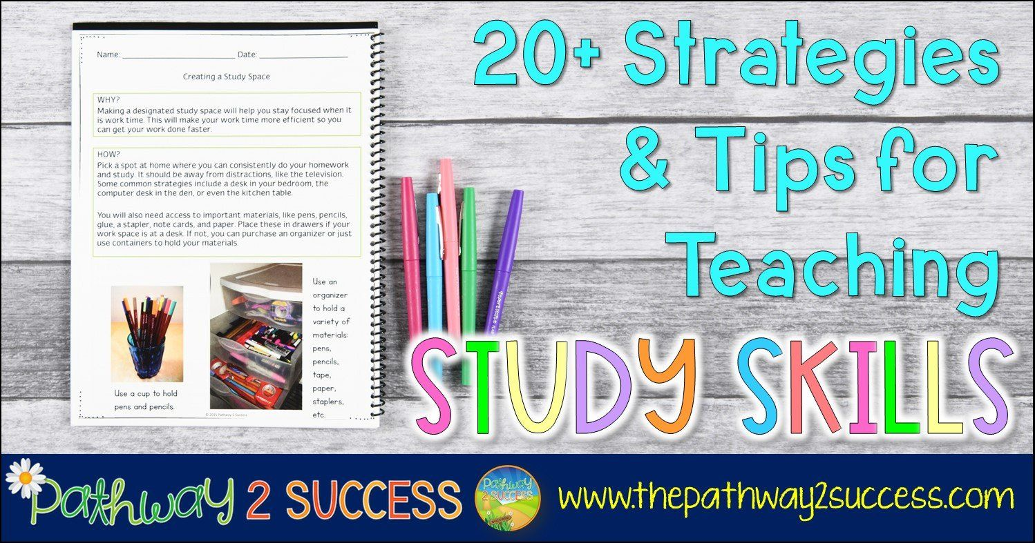 Study Skills Worksheets Middle School Tips For Teaching