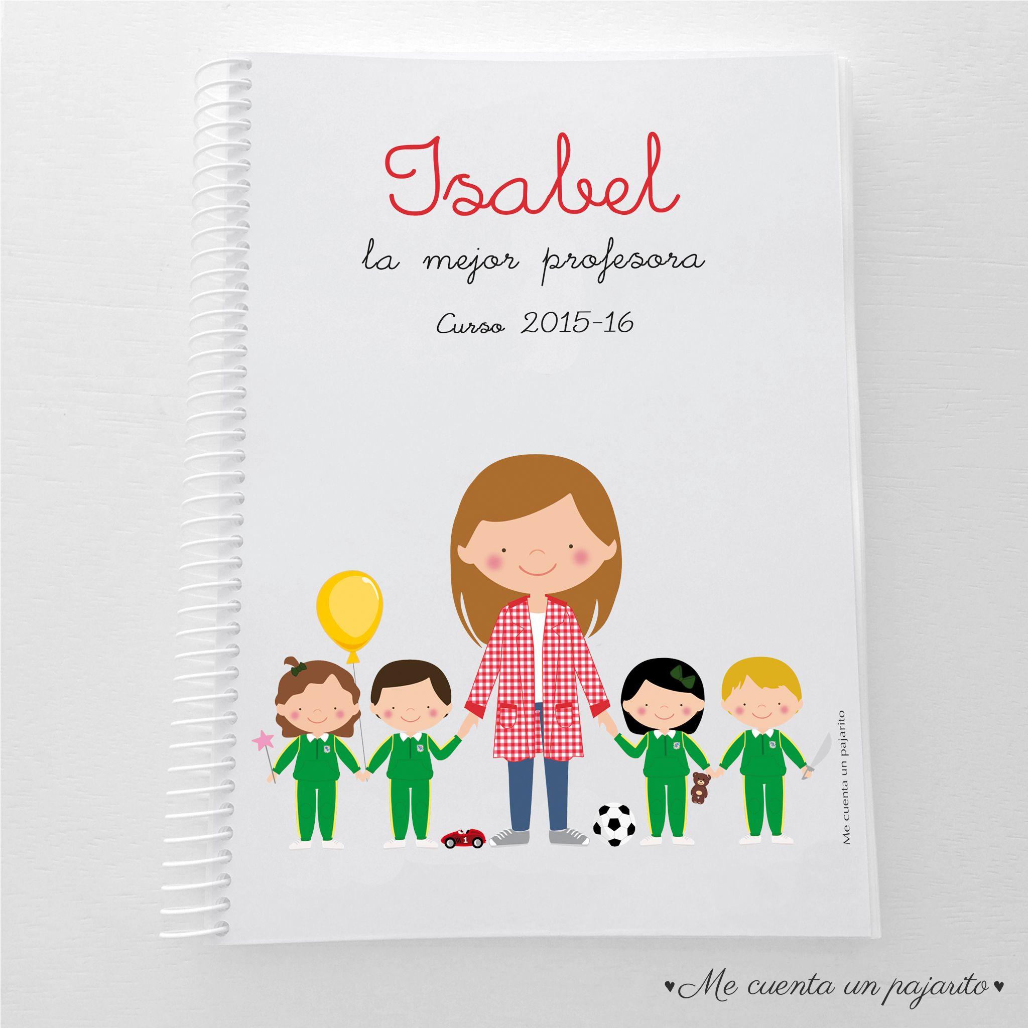 Cuaderno Personalizado Para Regalar A La Profesora O El Profesor Cuadernopersonalizado Regalos Para Profesores Tarjetas Para El Maestro Dibujos De Profesores