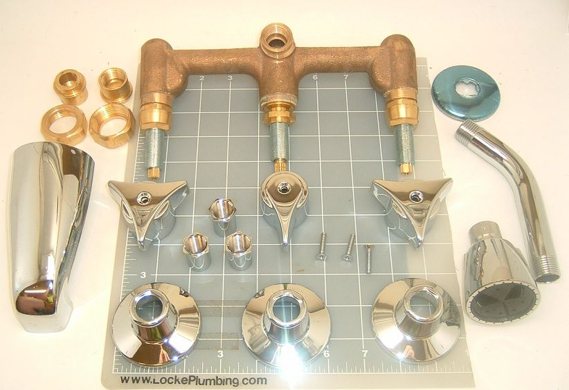 Union Brass 530 Three Handle Tub And Shower Valve 1 4 Turn Valves Shower Tub Shower Valve Tub