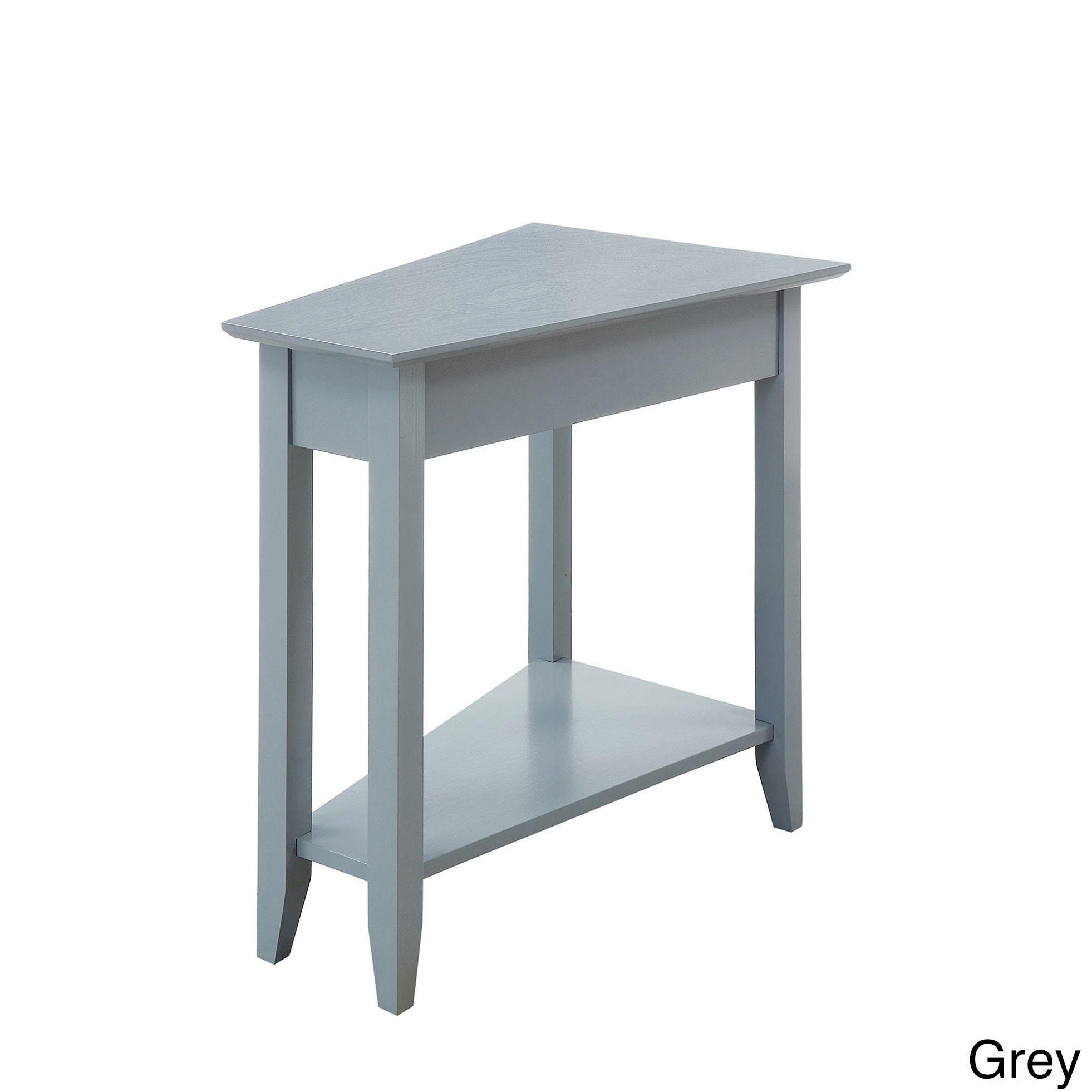 Porch & Den Convenience Concepts American Heritage Wedge End Table