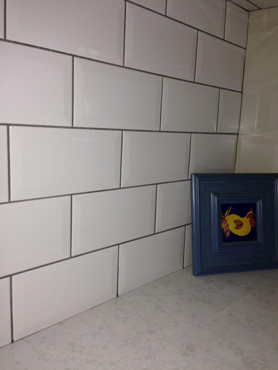 white subway tiles with light grey grout | my house in roseville