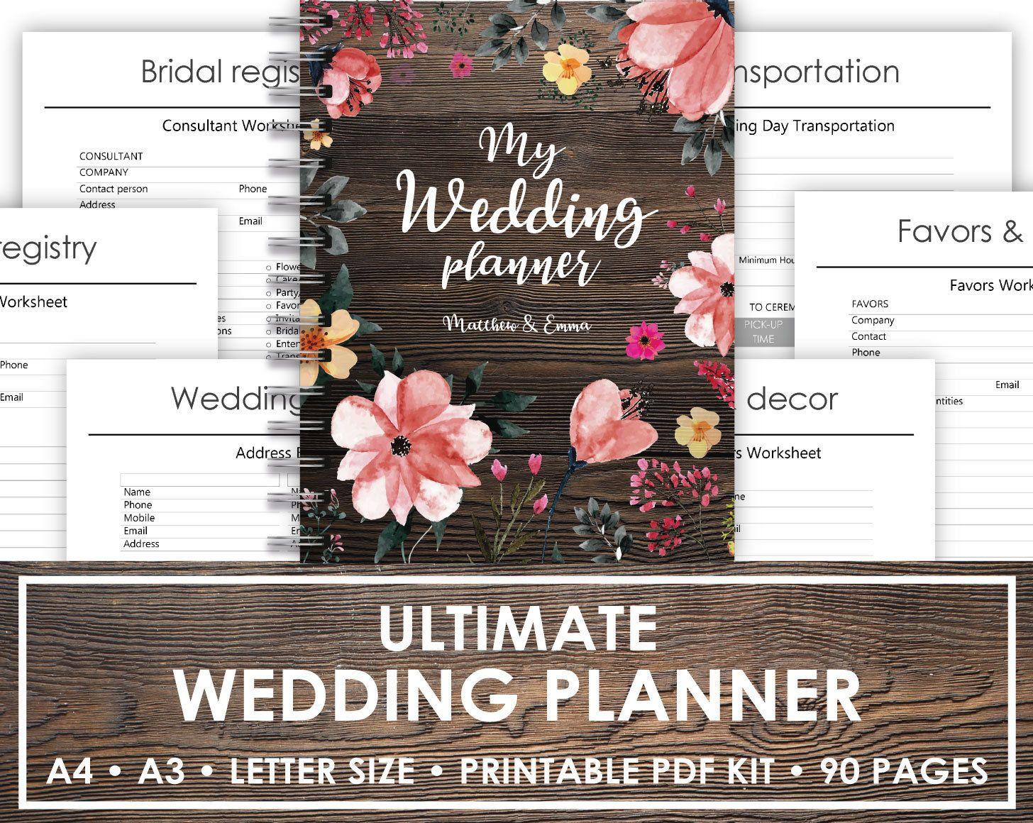 Printable Wedding Planner To Do Wedding Planner Printable